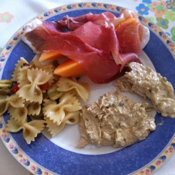 Pasta + Vitello Tonnato + Prosciutto Melone @ Home
