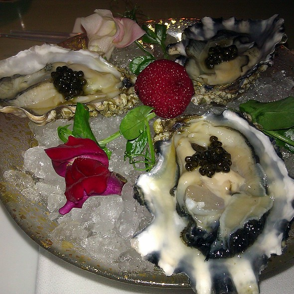 raw oysters - Morimoto New York, New York, NY
