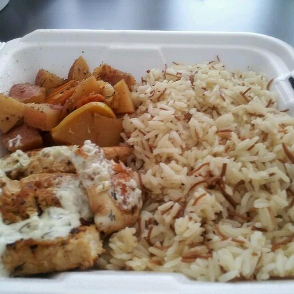 Chicken Souvlaki Platter @ Souvlaki Stop Food Truck