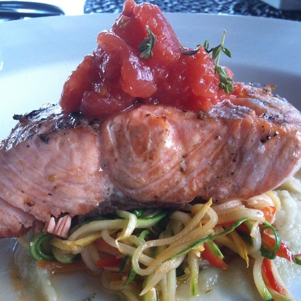 Grilled Salmon - The Bistro at Childress Vineyards, Lexington, NC