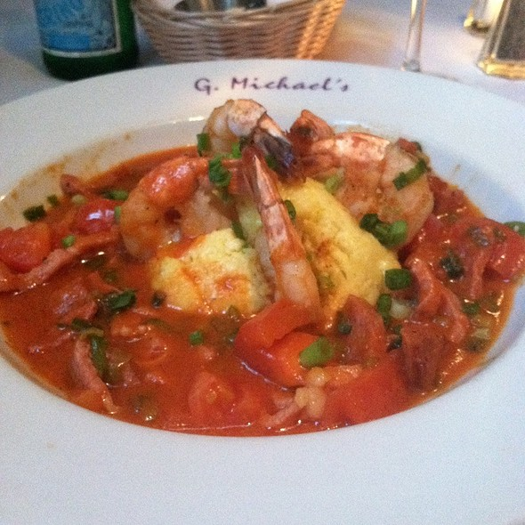 Shrimp Andouille Sausage And Grits - G. Michael's Bistro & Bar, Columbus, OH