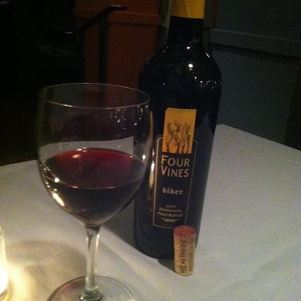 """Four Vines """"Biker"""" Zinfandel - G. Michael's Bistro & Bar, Columbus, OH"""