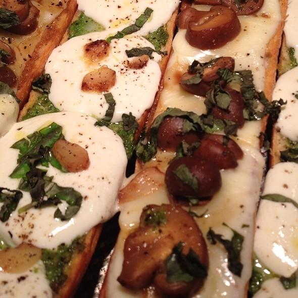 Thai Mushroom Provolone Bruchetta @ Intensity Academy Sauces Test Kitchen