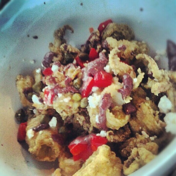 Calamari With Feta, Olives & Piquillo Peppers @ Rowland Fine Dining