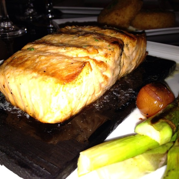 Cedar Plank Grilled Salmon - Compass Arizona Grill - Hyatt Regency Phoenix, Phoenix, AZ