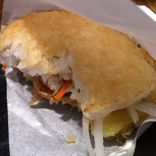 Tempura Rice Burger @ Budha's Belly