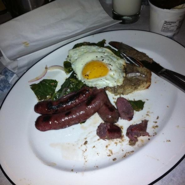 Jaegerwurst Sausage And Egg @ Diner