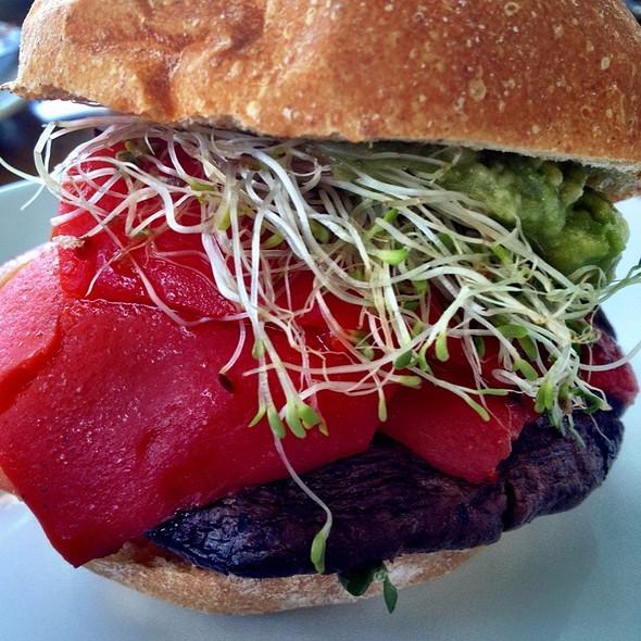 Grilled Balsamic Portabello Burger - Brockton Villa, San Diego, CA