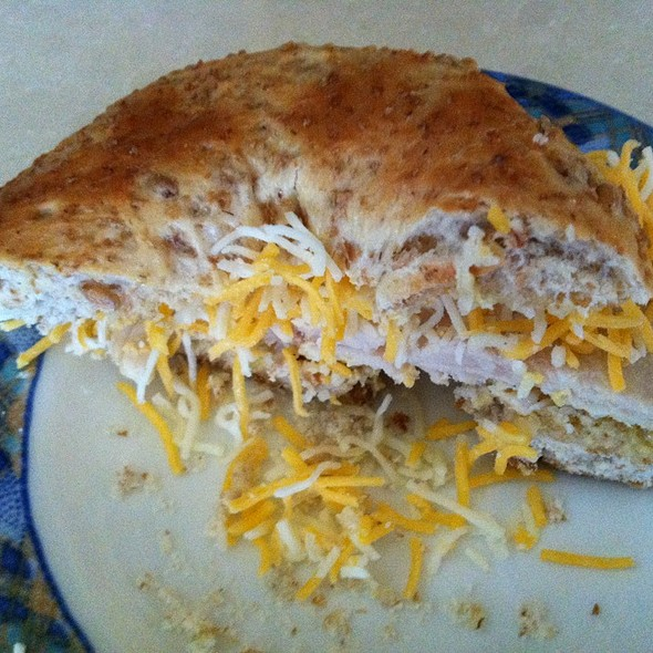 Turkey and cheese bagel @ Ractoids Place