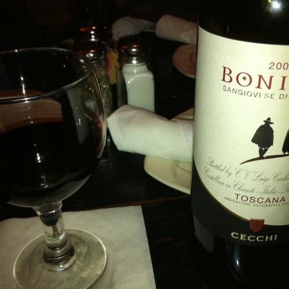 Bonizio Sangiovese Wine - The Original Cottage Inn, Ann Arbor, MI