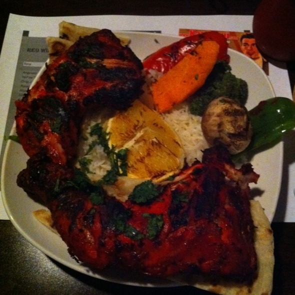 Tandoori Chicken Platter @ Bollywood Cafe