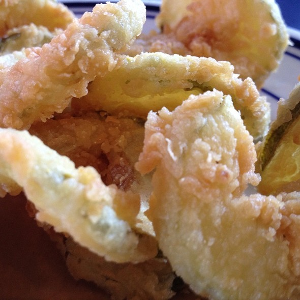 Fried Pickles @ Smokestack Urban Barbecue