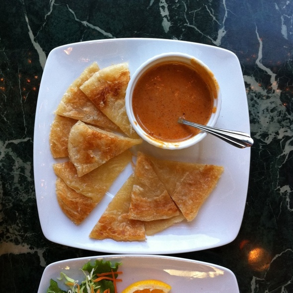Roti with Panang Curry @ Siam Fine Thai Cuisine