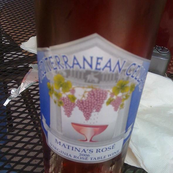Matina's Rose 2006 Wine  @ Mediterranean Cellars LLC