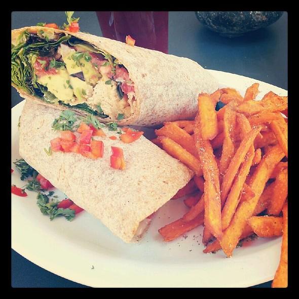 """Chicken"" Twister Wrap @ Native Foods Boulder"