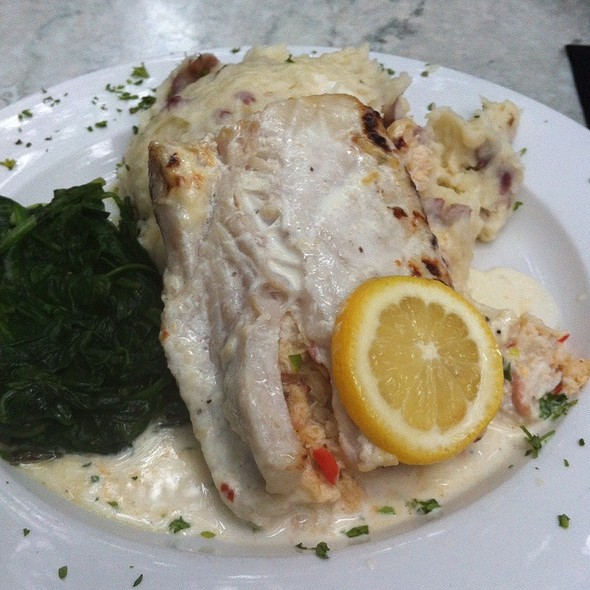 Crab Stuffed Mahi Mahi - The Old Fourth Street Filling Station, Winston-Salem, NC