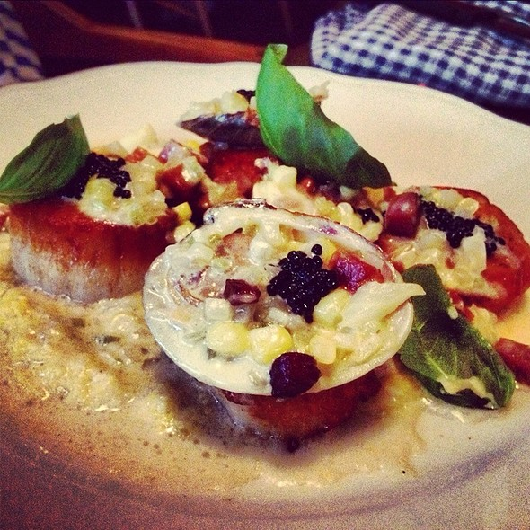 Scallops, Corn, Clams, Caviar @ Joe Beef
