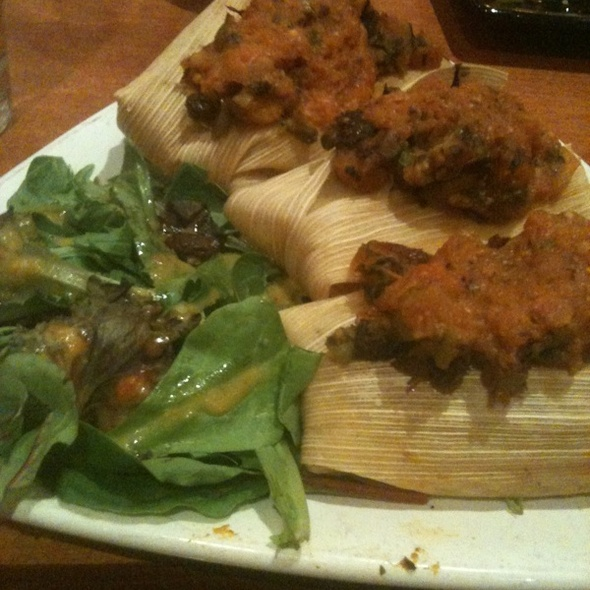Butternut Squash Tamales - Zocalo Cleveland, Cleveland, OH