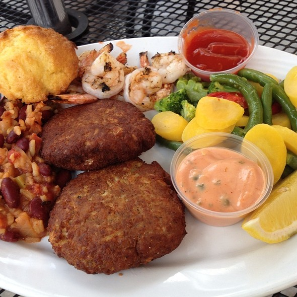 Shrimp And Crab Cake Dinner @ Gulf Shores Restaurant and Grill