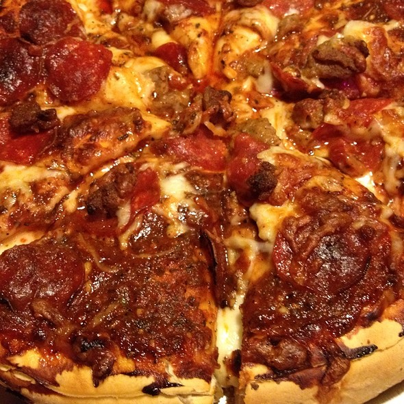 Pepperoni And Sausage Pizza @ Black Thorn Pub