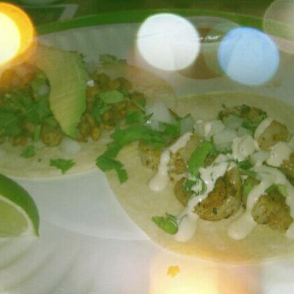 Tempeh And Shrimp Tacos