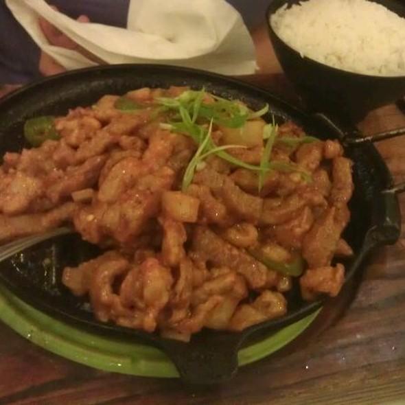 Spicy Korean pork Hot Plate @ Joy Yee's Noodles