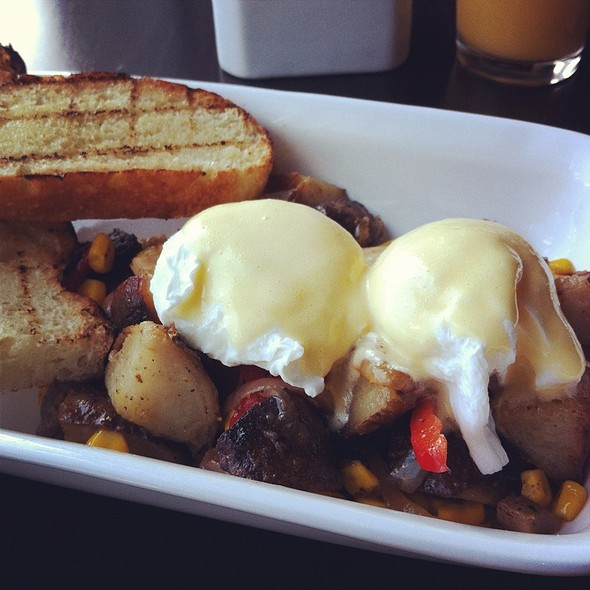 Eggs Benedict With Pork Belly Hash @ AKA Wine Bar