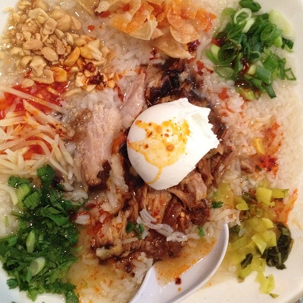 Jook with Pork and Preserved Duck Egg @ B*Star