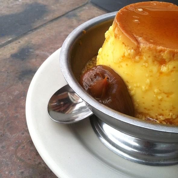 Flan con Dulce de Leche - El Patio Argentine Restaurant, Rockville, MD