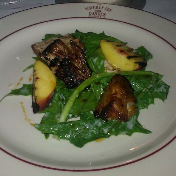 Pork Belly With Grilled Peaches  - The Waverly Inn, New York, NY