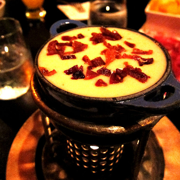 Peppered Bacon And Cheddar Cheese Fondue - Fondue Cowboy, San Francisco, CA