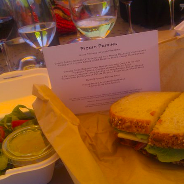 Pork Tenderloin Sandwich - Lynmar Estate, Sebastopol, CA