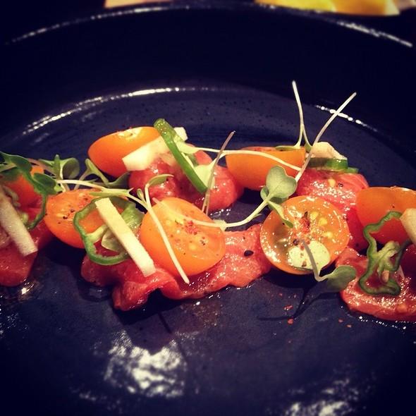 Chef Jonah Special With Cherry Tomato And Sockeye Salmon @ Pabu Restaurant