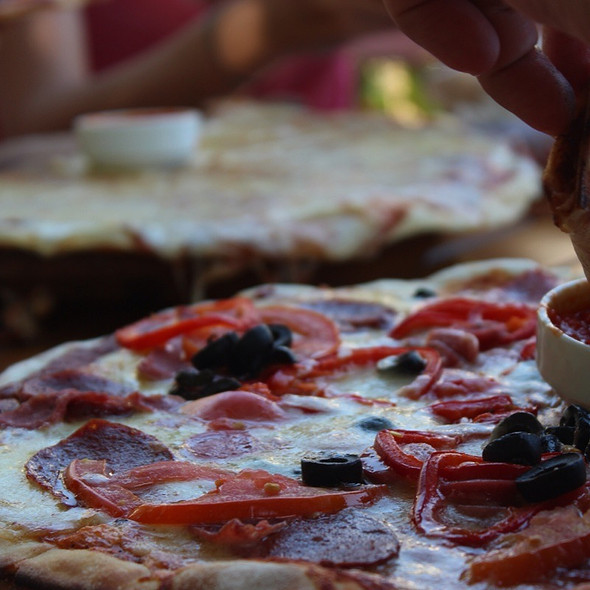 Pizza @ Derya Beach Restaurant