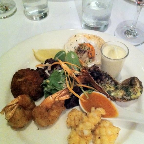 Seafood Tasting Plate @ Daniels Resturant