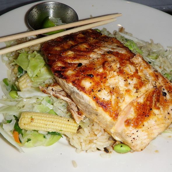 Ponzu Salmon @ Rock Bottom Restaurant & Brewery