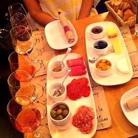 Cheese And Meat Plates And Wine Flights