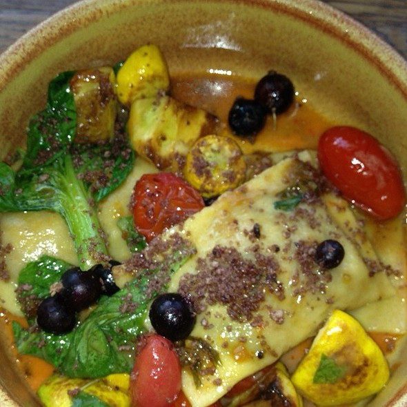 Butternut squash ravioli @ The Girl And The Goat