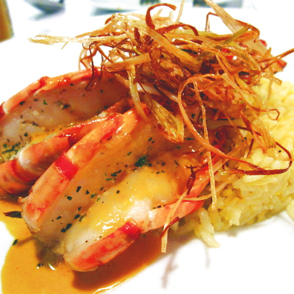 Grilled Tiger Prawns with garlic parsley and Saffron rice @ Fat Fish Seafood Bistro
