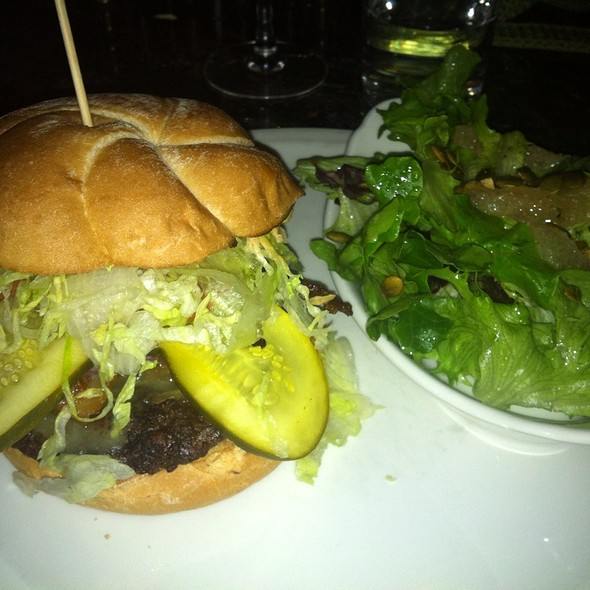 BBQ Burger And Salad - Bard & Banker, Victoria, BC