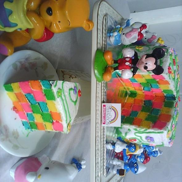checker cake @ BiteMe Rainbow
