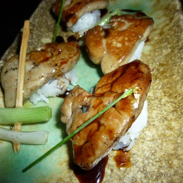 Foie Gras Sushi @ Okku