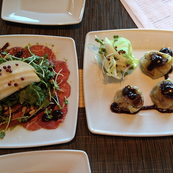 Foie Gras Dumplings And Kobe Beef Carpaccio