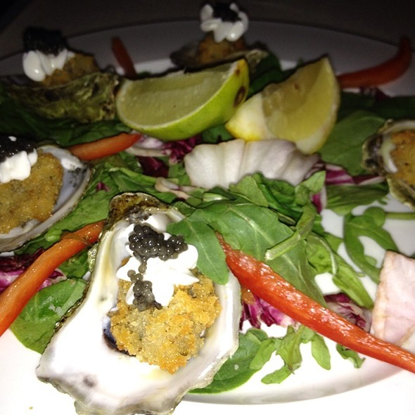 Fried Oysters With Caviar - Pinon's Restaurant, Aspen, CO