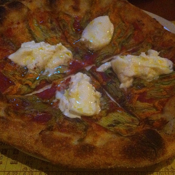 Squash Blossom Pizza @ Pizzeria Mozza