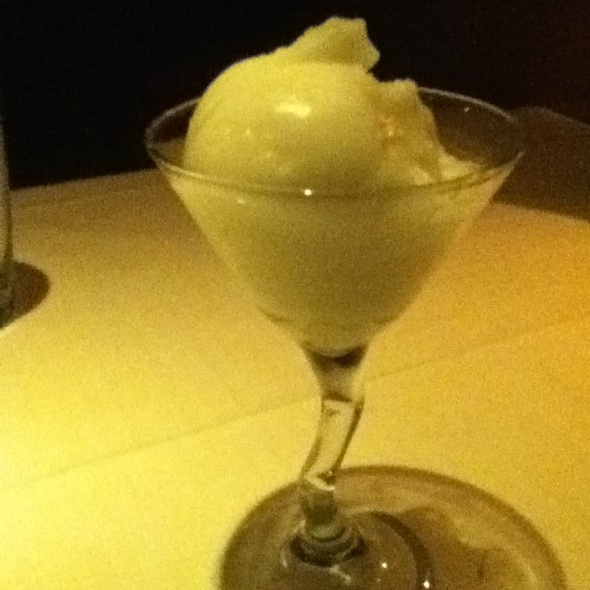 Champagne Sorbet - Don's Lighthouse Grille, Cleveland, OH