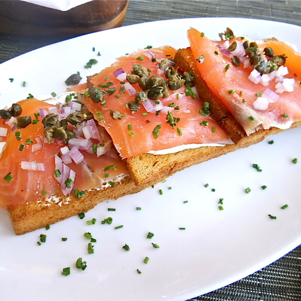 Smoked salmon @ Centro Vinoteca, New York