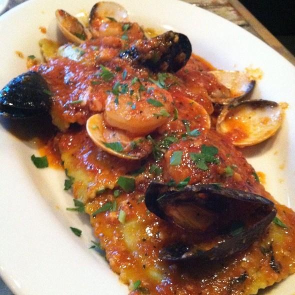Spinach And Cheese Ravioli With Mare Sauce - Mirko Pasta - Buckhead, Atlanta, GA