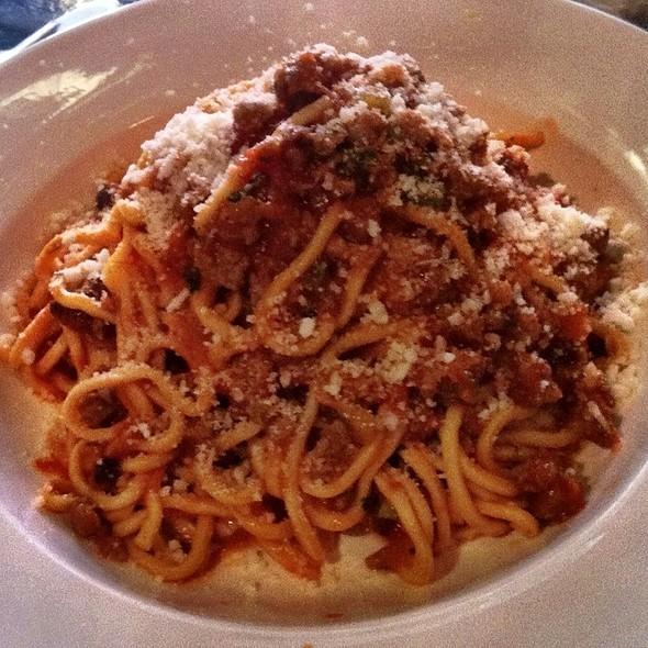 Hand Cut Spaghetti With Sausage Ragu @ Barbarini Alimentari