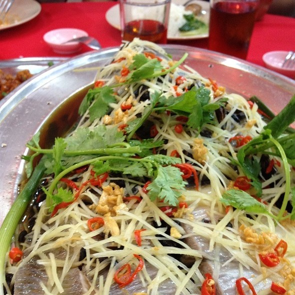Steamed Fish With Ginger And Black Beans @ Restoran Mun Kee